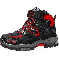 Botas de Senderismo Zapatos de Algodón Botas para la Nieve Botas de Invierno para Unisex Niños(1-Negro 25EU)