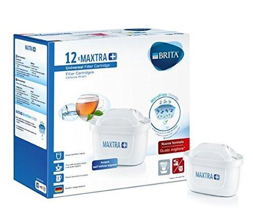 BRITA Filtri MAXTRA+ Pack 12, Cartucce per Caraffe Filtranti, 12 Filtri x 12 Mesi di Acqua Filtrata (Ricondizionato)