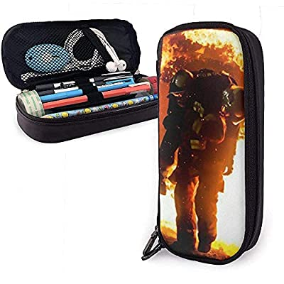 Leather Pen Case Firefighter Paramedic Fire Extinguisher Pencil Bag Pen Cosmetic Makeup Pouch Bag from Xinli Shop