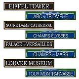 Beistle French Street Signs Cutouts, 4da 61cm, multicolore...