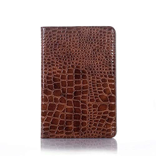 Wangqianli Compatible With IPad Mini 5th Generation 2019 / IPad Mini 4th Gen 2015 Crocodile Leather Folio Smart Stand Cover Case Hard Cover Light-Weight Auto Wake Sleep (Color : Brown)
