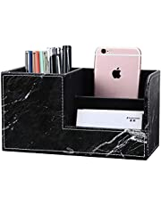 LILAN PUレザー 卓上収納ボックス 卓上収納ケース デスク収納ボックス 文具収納ボックス 鉛筆スタンド ペン立て