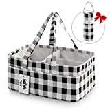 FEIAA Baby Diaper Caddy Organizer for Changing Table Nursery Storage Bin Baby Shower Gift Basket Tote with Bottle Cooler