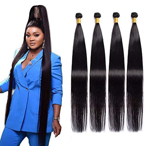 Maxine Brazilian Hair 4 Bundles 10A Virgin Unprocessed Long Straight Human Hair 34 34 34 34 inches Straight Hair Weave