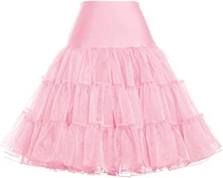 GRACE KARIN 50s Donna Sottogonne al ginocchio Retro Petticoats Vintage 1950s Donna Sottogonne Rockabilly Mini Gonne