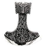 Kiss of Leather Colgante del martillo de Thor de plata de ley 925 n.º 347