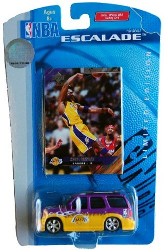 Lakers NBA Kobe Bryant Escalade 1:64 Scale Die Cast Collectible Car with Collectible Card by Upper Deck image