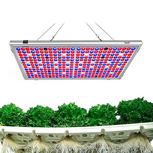 Relassy LED Pflanzenlampe 300W, LED Grow Lampe Vollspektrum, Pflanzenlicht mit 338 LEDs, Grow Light Full Spectrum für Zimmerpflanzen, Gemüse, Blume