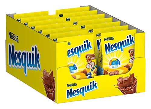 Nestlé Nesquik, kakaohaltiges Getränkepulver zum Einrühren in Milch, mit Vitamin-Mix, Großpackung für Schoko-Fans, 1er Pack (14 x 400 g)