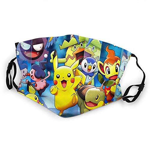 DonBerr Pokemon mascarilla deportiva Impresión 3D Antivaho A prueba...