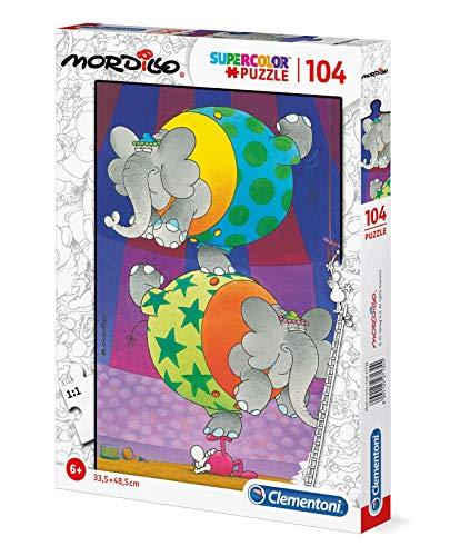 Clementoni - 27134 - Supercolor Puzzle - Mordillo, The Balance - 104 Pezzi - Made In Italy - Puzzle Bambini 6 Anni