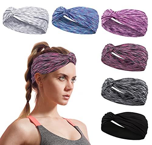 Elastische Sport Stirnband Dünn Damen Frauen Schweißband Sommer Stirnbänder Anti Rutsch Lauf Haarband Kopfband für Yoga, Jogging, Fitness