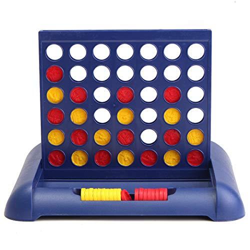 ILS - Juego de ajedrez plegable Juego de juguetes educativos para niños Conecta cuatro ajedrez a cuadros juguetes interactivos padres e hijos para niños mayores de 5 años