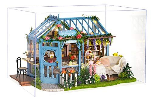 La Vida en Led DIY Invernadero Jardín Casa de Muñecas de Te Puzzle 3D con Luz y Música (con Caja de Exposición)