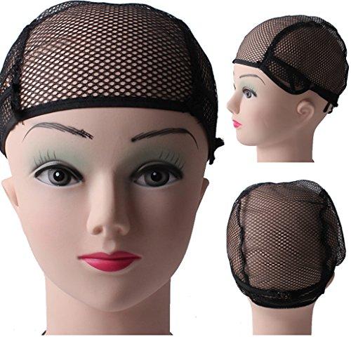 SM SunniMix Perruque Cheveux Tissage Bouchon Snood étirement Net Doublure Maille Bonnet Perruque pour Femme en Nylon élastique Noir