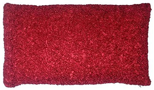 UK Care Direct de Luxe Rubans Rouge Rubis 50 x 30 cm Boudoir Housse de Coussin