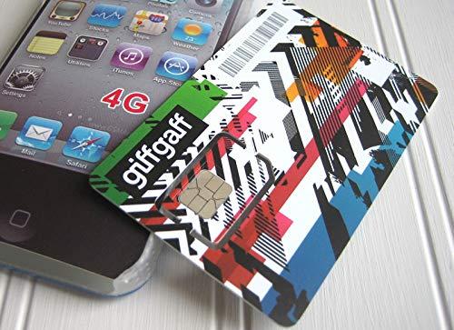 Giffgaff o2 Tri-Sim Tarjeta - Estándard / Micro/Nano Sim - Bonus Credito cuando Recarga - Iphone 3gs,4 ,4S,5 ,5C,5S,6 ,6S,6 Plus,7 ,Ipad 1 ,2 ,3 ,4 ,Air - Unlimited Incluido Llamadas y Textos