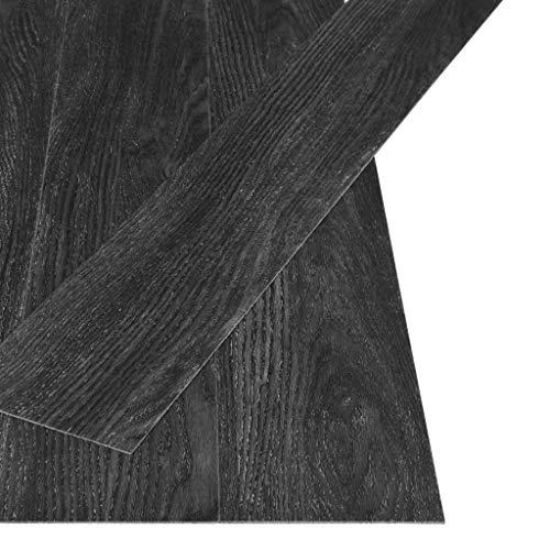 vidaXL PVC Laminat Dielen Selbstklebend Vinylboden Vinyl Boden Bodenbelag Fußboden Designboden Dielenboden Landhausdiele 4,46m² 3mm Eiche-Anthrazit