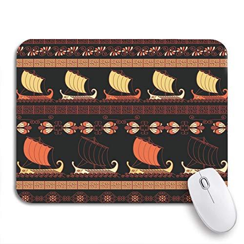MIGAGA Gaming-Mauspad,Boot Altgriechische Schiffe und traditionelle ethnische Vintage Keramik,rutschfest Verschleißfestes Und Haltbares Gummi,Mousepad Für Bürocomputer,9.5