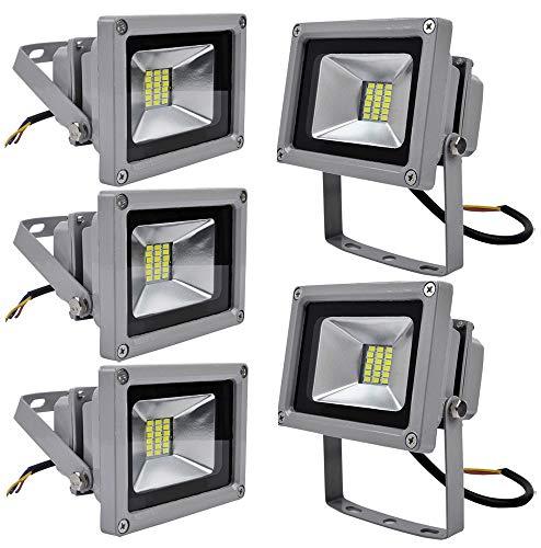 Leetop 5X 20W Projecteur LED Exterieur Blanc Froid LED Lampe FloodLight Imperméable IP65 6500K LED Lumière Blanche