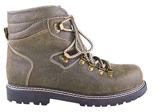 Almwerk Herren Trachten Bergschuh Wanderschuh 102 in verschiedenen Farben, Schuhgröße:EU 40 - US 7.5 - Fußlänge 25.4;Farbe:olive