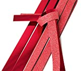 20x Quilling Papier-Streifen'Glitter-Rot'Faltstreifen Fröbelstreifen Paper Flechtsteifen