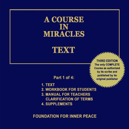 A Course in Miracles: Text, Vol. 1 Titelbild