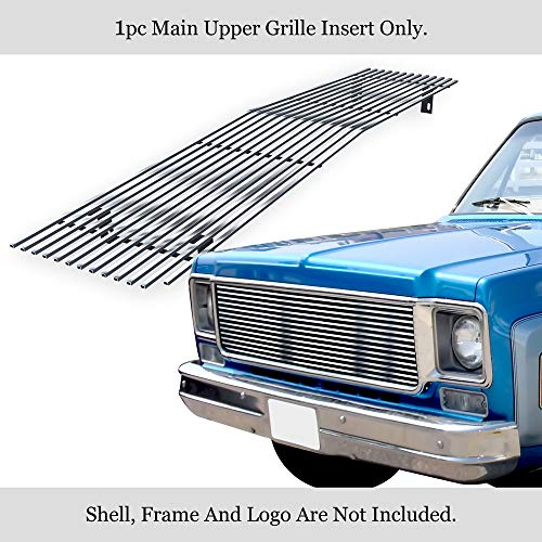 APS Compatible with 73-80 Chevy C K Pickup Suburban Blazer Stainless Steel T304 Billet Grille Grill N19-S80058C