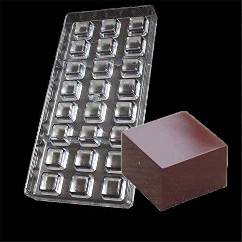 Vak 24cavità piazza stampo per cioccolatini in policarbonato rigido Candy vassoio Jelly Mold iniezione del cioccolato cottura stampi Bakeware pan–27.5x 13.5x 2.4cm