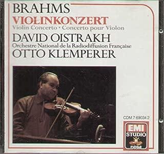 brahms violin concerto oistrakh klemperer