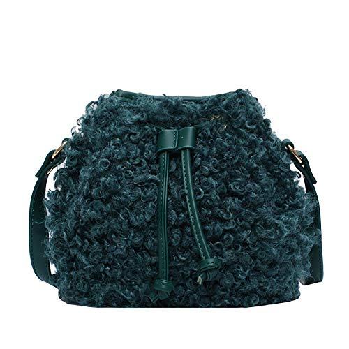 Flauschige Eimertasche Flauschige Handtasche Winter Frauen Schultertasche Kunstfell Kordelzug Eimer Tasche Plüsch Flauschige Handtasche Quaste Crossbody Tasche