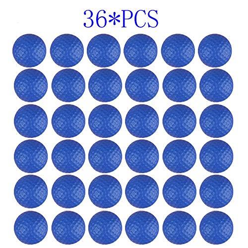 Dsmile Blaue Schaumstoff-Übungsbälle, 36 Stück, leicht, weich, elastisch, für Training, multifunktionale Sportbälle