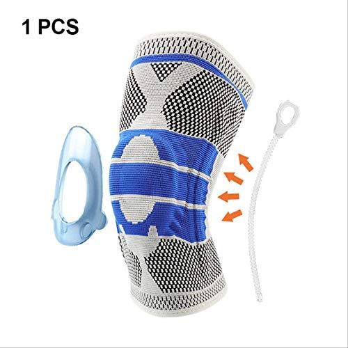 XKEENHUXI Rodilleras de Silicona Tejidas en 3D Soportes Brace Voleibol Baloncesto Meniscos Rótula Protectores Rodilleras de Seguridad Deportiva