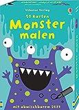 50 Karten: Monster malen: mit abwischbarem Stift