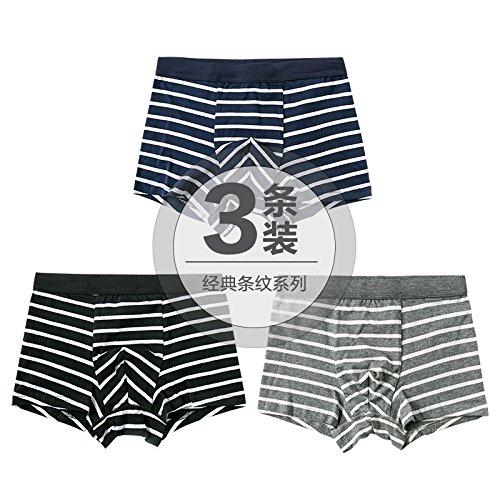 ZHFC-3 pack baumwolle männer unterwäsche taille streifen vier japanischen jugendlichen mode unterwäsche boxershorts winkel kopf,xl