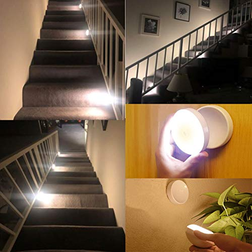 USB Rechargeable Night Light, Sensor Led Lights,Smart Motion Sensor Light with Magnetic Base,Portable and Mobile Light for Cabinet Bedroom Kitchen Hallway Stairs,Cold White 3 Pack