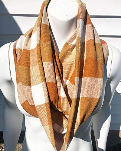 Limited price Tan At the price of surprise Gold Scarf Plaid