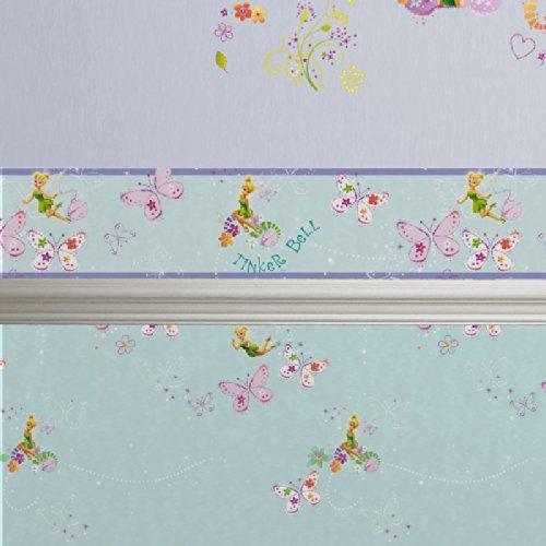 Disney Tinkerbell Fairy Butterfly Tapetenbordüre 5 Meter