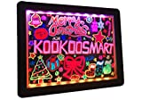 Kookoosmart LED Glow Art Drawing Board tablero iluminado borrable en negro con 36 efecto...
