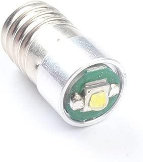 ANFTOP 1pcs E10 Socket Base 12V 3W LED Light Bulb Super Bright 200LM 6V - 24V 6000K White LED Bulb Replace Torch Headlight Mini Head Lamp Flashlight Lightbulb
