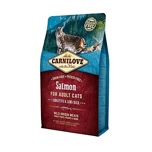 Carnilove Carnilove Salmon Sensitive & Long Hair Comida Deshidratada Para Gato 400 Gr - Paquete de 4 x 100 gr - Total: 400 gr