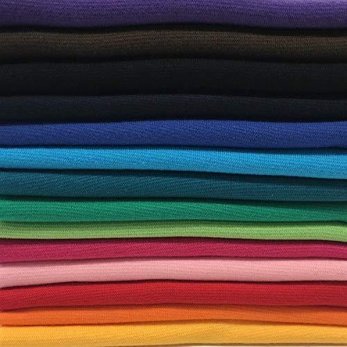 Bündchenstoff Bündchen Starterset Mix-Paket Regenbogen Paket 1 mit 14 Farben (EUR 7,14 / Meter)