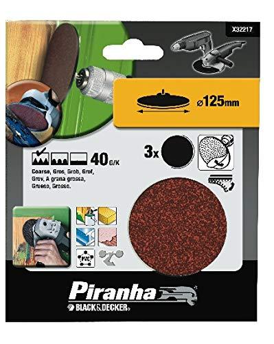 Black & Decker disques Feuilles abrasives Papier abrasif pour bois 40 g/K, 125 mm de diamètre