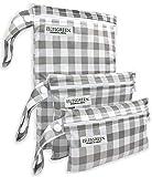 iZiv 2 Paquete Beb/é Prueba de Agua Reutilizable Wet Dry Bag Reutilizable Impermeable Lavable Suspender Grandes Organizador Doble Cremallera Impresi/ón Bolsa de Pa/ñales Bolsas para Pa/ñales