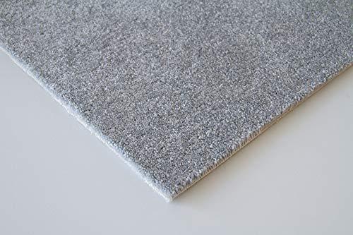 Steffensmeier Teppichboden Genua Meterware | Auslegware für Kinderzimmer Wohnzimmer Schlafzimmer | Grau, Größe: 400x500 cm