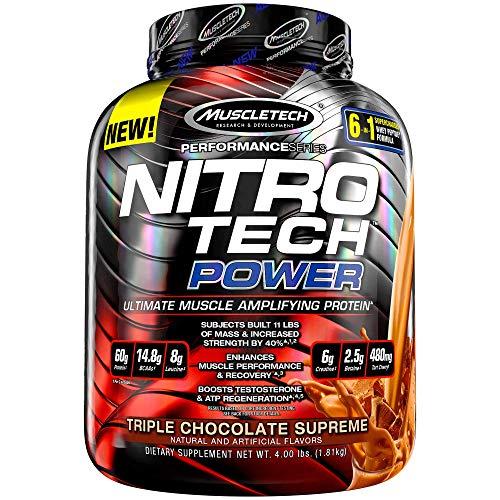 NitroTech Power 100% Whey Protein Powder