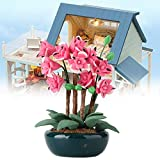 YUHT Dollhouse D & Eacute; Cor, Accesorio de Flores Miniatura Bonsai Garden Toy 1:12 Doll House Balcón Decoración Accesorios para niños Juguete Doll House DIY