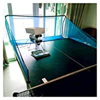 卓球ネット、視力保護、ポータブル卓球ネット、リサイクルネット、シングルアシストトレーニング XJJUN (Color : Blue)