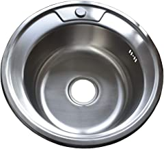 /Évier de cuisine rond /évier en acier inoxydable de 41 41 41CM
