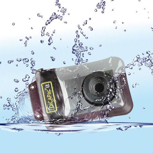 Dicapac WP-310 Custodia Waterproof per Fotocamere Digitali, Tenuta Stagna Fino a 10 metri, Lenti in Policarbonato con Protezione UV, Zoom Sempre Utilizzabile, Autogalleggiante